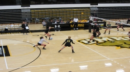 Volleyball .500 early in AEC play