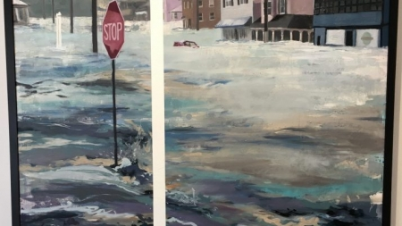 """Fire and Flood"" – a local artist's response to natural disasters"