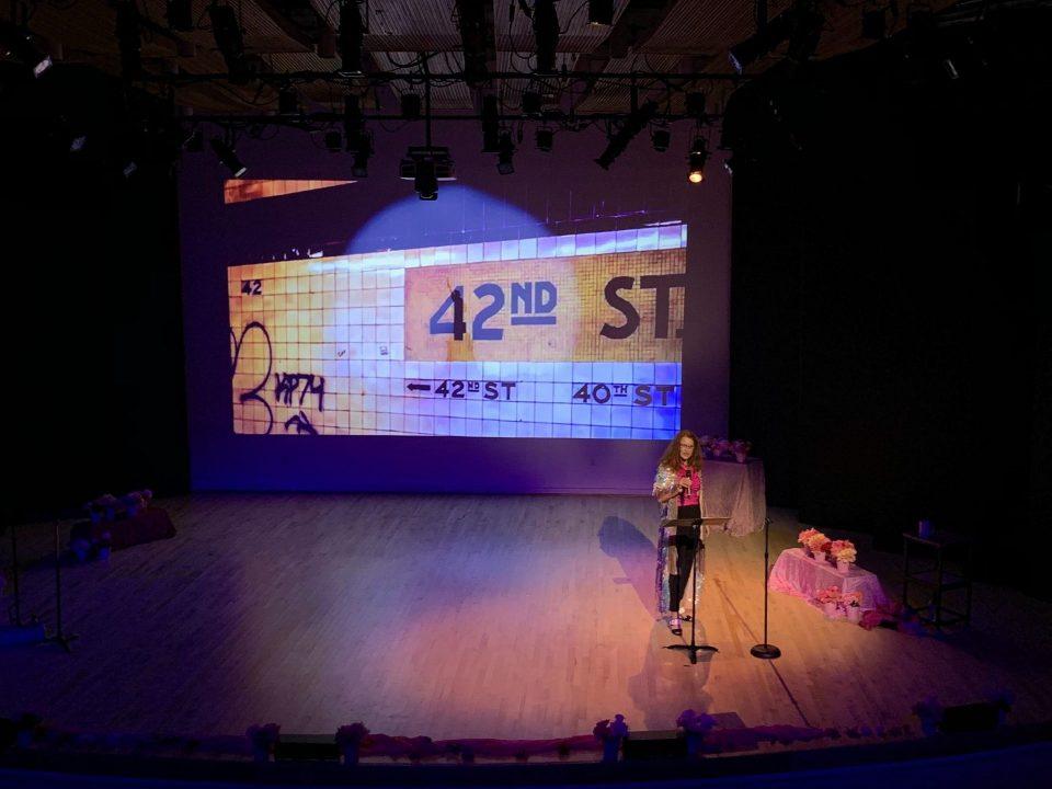 Karen Finley delivers meaningful pink performance art