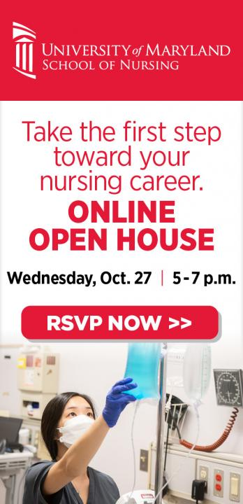 UMD Nursing Online Open House Wednesday Oct 27