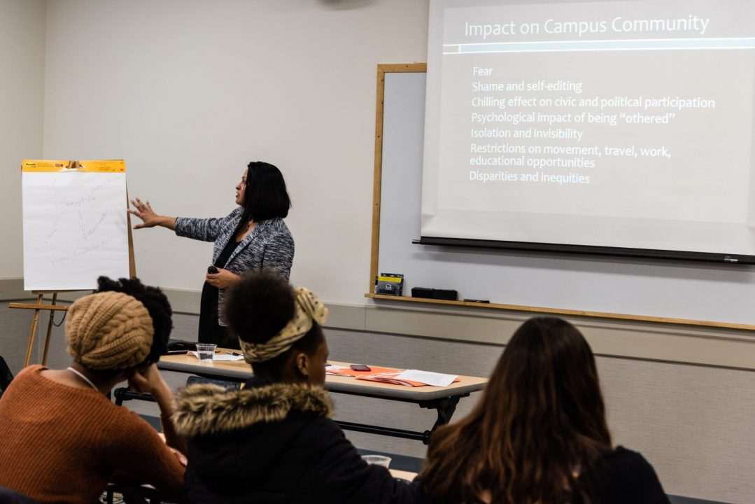 Deepa Iyer tackles Islamophobia during student workshop