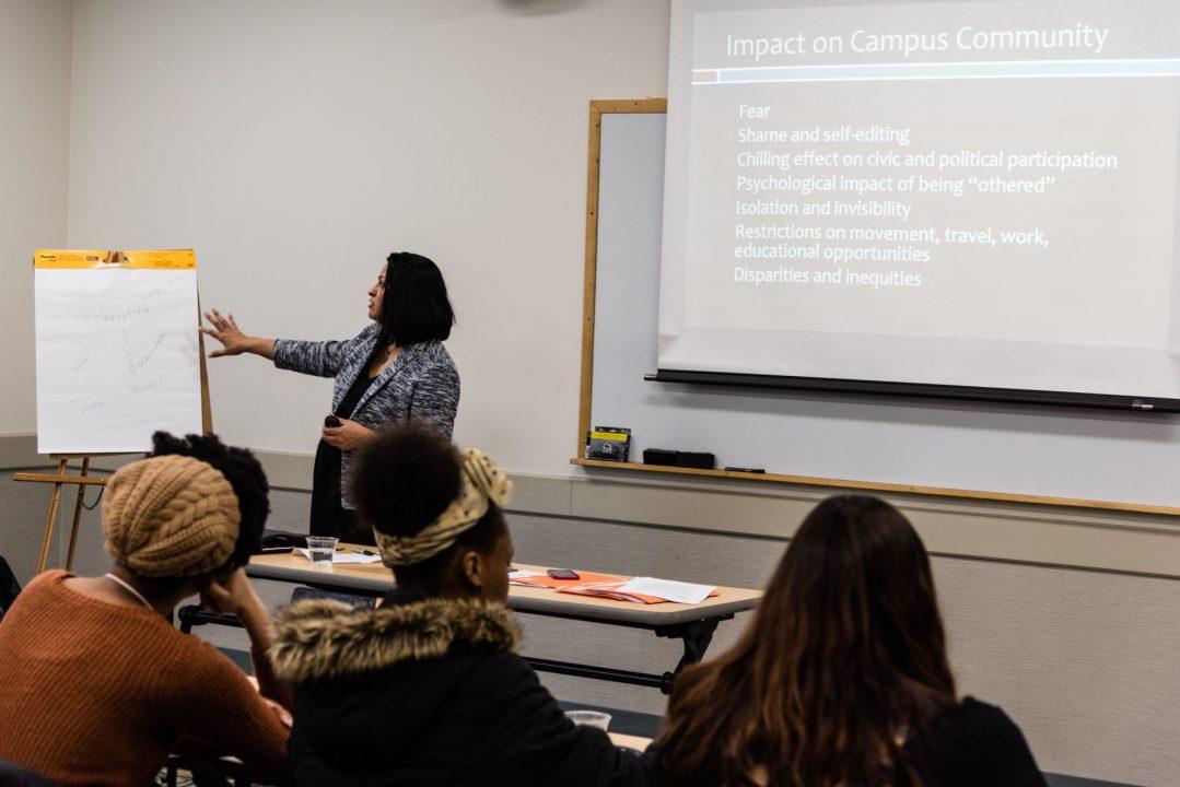 Deepa Iyer tackles Islamophobia during student workshop
