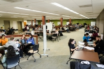 Scarcity of study spaces raises the stakes in semester wind-down