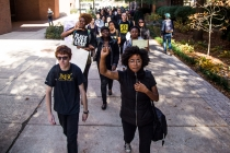 BSU marches in response to blackface on campus