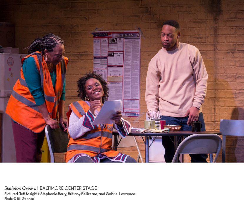 "The ""Skeleton Crew"" of a play"
