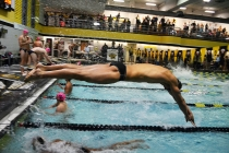 Women's swimming and diving repeats AEC championship