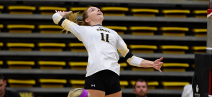 Volleyball falls to hard-hitting New Hampshire in four sets