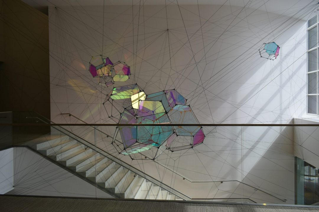 "Tomás Saraceno's ""Entangled Orbits"" float through Baltimore Museum of Art"