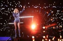 Lady Gaga soars in halftime show