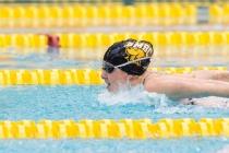 Swim and dive wins big as Escobedo breaks records