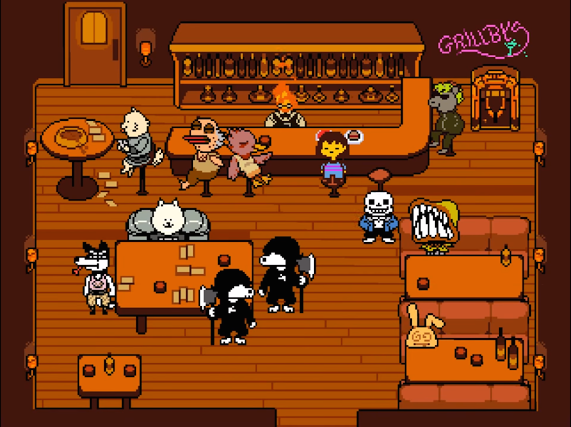 Classic RPG style meets peaceful determination